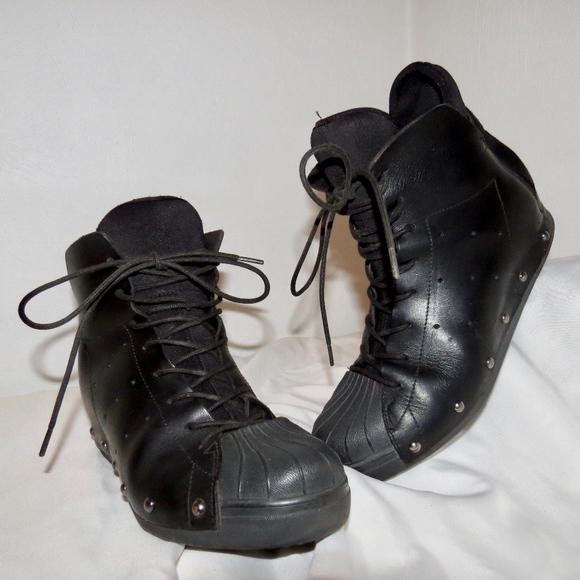 90033daab0944 Adidas Y-3 Yohji Yamamoto Wedge Sneakers. M 5b635fb64ab63353f5335f21